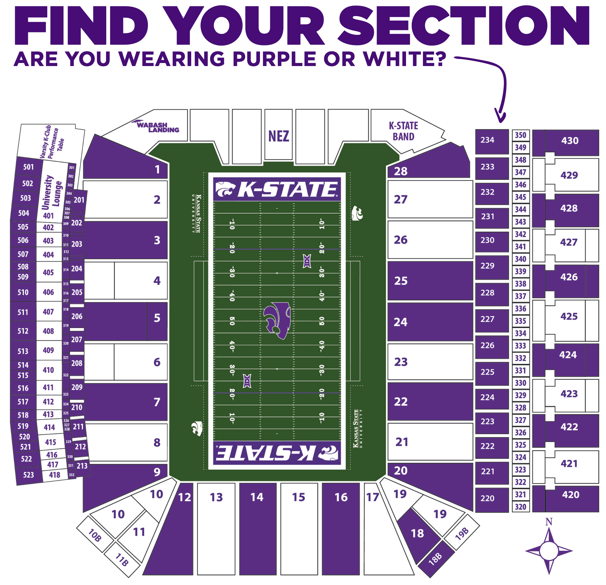 Football Stripe Out - Kansas State University Athletics on penn state map, u of a map, ohio state map, wichita state map, nc state map, sf state map, kennesaw state campus map, samarkand russia map, kstate campus map, san diego state university map, sporting kc map, farmingdale state college map, cleveland convention center map, carnegie mellon map, boise state map, a&m map, u of i map, washington university map, ks state map,