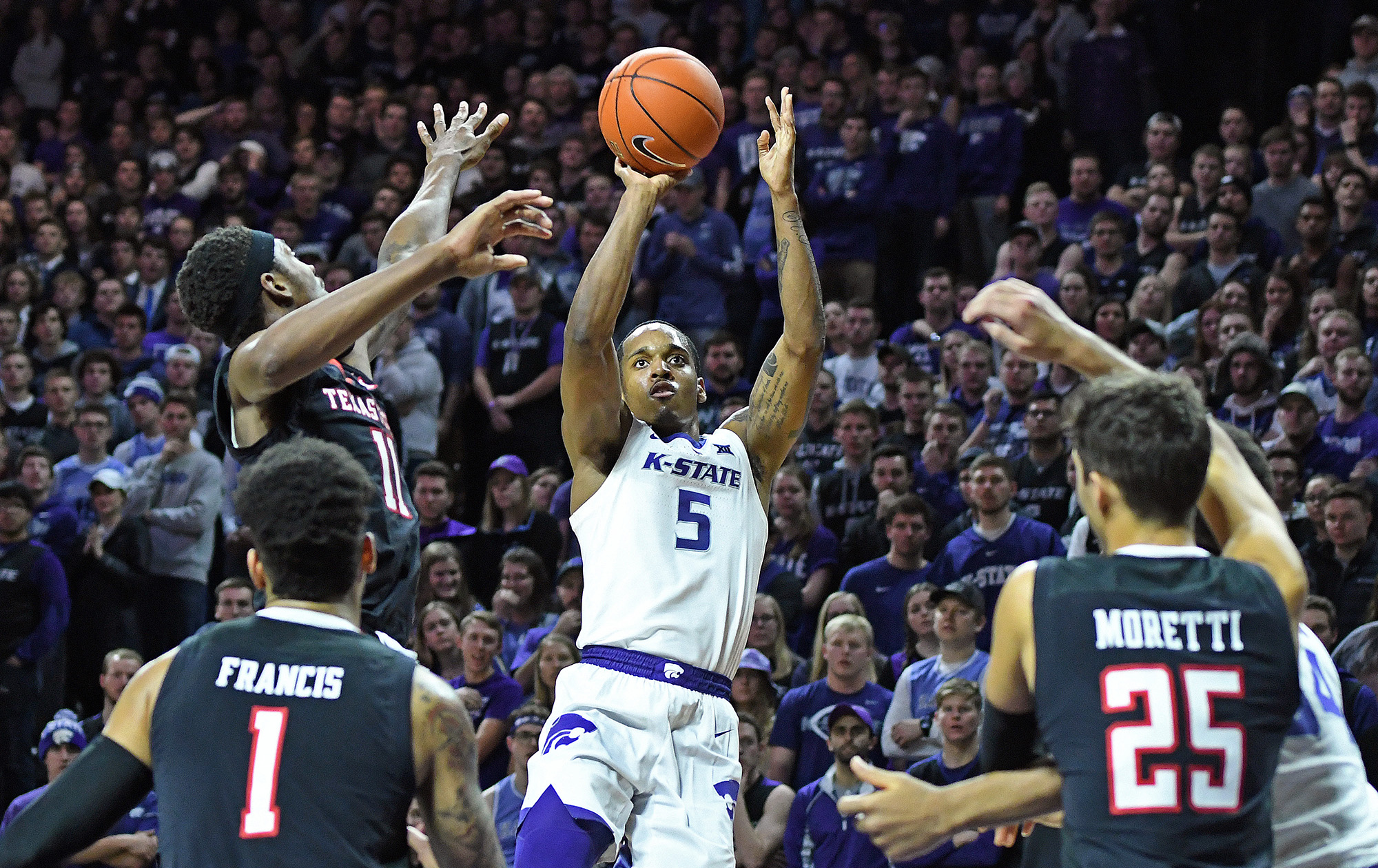 K State Wins Defensive Battle Downs No 14 13 Texas Tech 58 45 Kansas State University Athletics